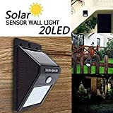 #5: SCROSS Solar Wireless Security Motion Sensor Night Light - 20 LEDs Bright and Waterproof for Outdoor/Garden Wall