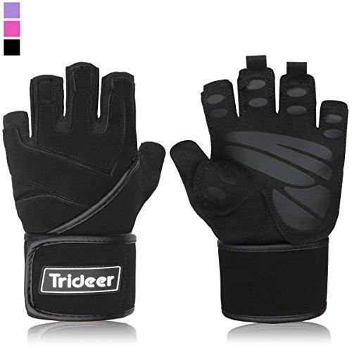 Trideer Padded AntiSlip – Weight Lifting Gloves