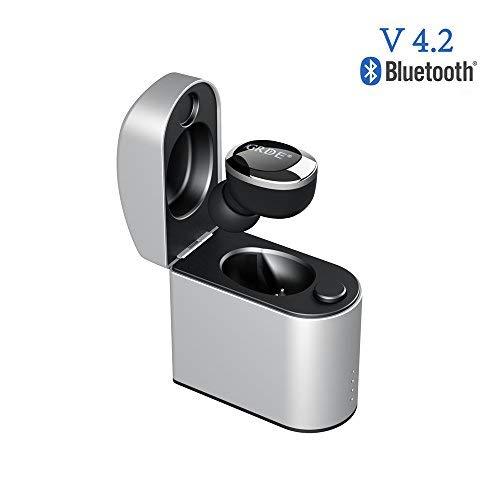 Mini Auricolare Bluetooth 4.2 Wireless con Box di Ricarica Magnetica Portatile IPX4 Auricolare Wireless Invisibile In-Ear con HD Mic per iPhone, Samsung, Huawei e Altri Smartphone