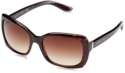 Ralph lauren donna 0rl81340313 occhiali da sole, marrone (dark havana/browngradient), 56