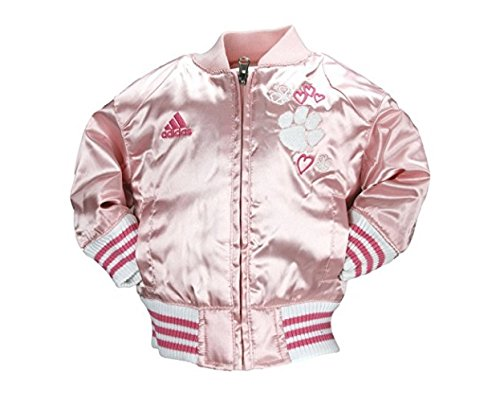 Adidas NCAA Little Mädchen Säuglinge und Kleinkinder Rosa Satin Cheer Jacke, Team Optionen, Mädchen, Clemson Tigers