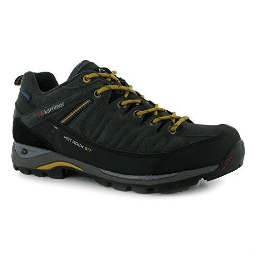 Karrimor Hot Rock Chaussures de marche courtes pour hommes Dunkelgrau/Gelb