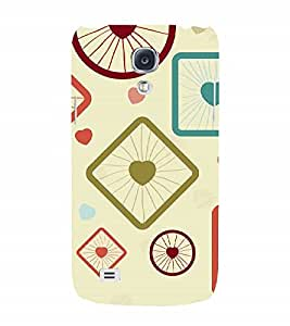 Fuson Designer Back Case Cover for Samsung Galaxy S4 I9500 :: Samsung I9500 Galaxy S4 :: Samsung I9505 Galaxy S4 :: Samsung Galaxy S4 Value Edition I9515 I9505G (Spikes Circles Squares Rectangles Love Hearts)