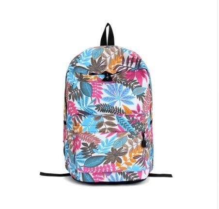 Aeoss Leaf Flower Palm Tree Print School Travel College Boho Backpack Bag...