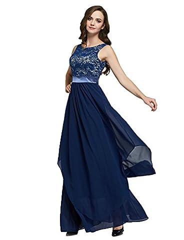 LemonGirl Women's Pleated Round neck Halter Bridesmaid Long Dress Vest Evening Dresses
