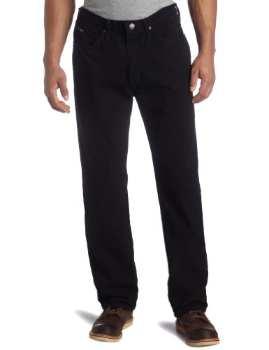 Lee Mens Relaxed Fit Straight Leg Jean, Double Black, 33W x 29L