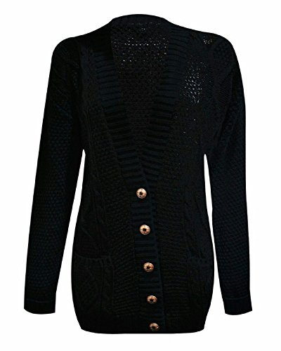 FASHIONCHIC -  Cardigan  - Donna Black S/M (40/42)