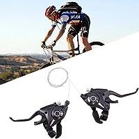 Juego de palanca de freno y palanca de cambios con cable de freno y 7 / 8marchas para bicicletas de paseo, de montaña y de carreras