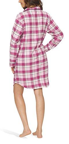 Flanell-Nachthemd Nachtkleid Nachtwäsche Sleepshirt für Damen - Moonline Pink