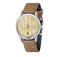 Reloj Cuarzo Dufa Deutsche Uhrenfabrik Para Unisex Con Beige Cronógrafo Y Beige Cuero Weimar Chrono DF-9012-01 Automatik de Dufa Deutsche Uhrenfabrik