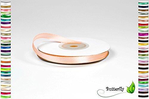Satinband, Schleifenband, apricot | 25m Rolle 6mm