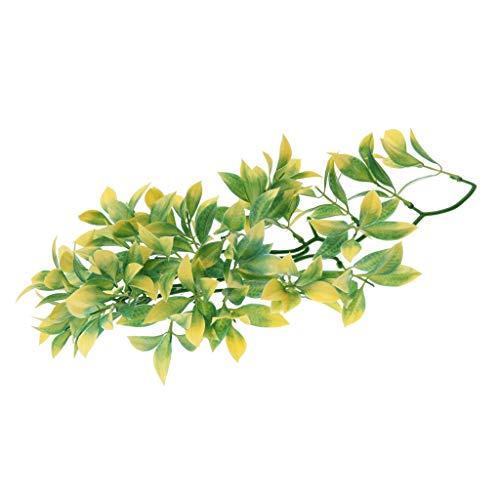 perfk Terrarium Künstliche Pflanze Hängepflanze Kunstpflanze Dekoration - S