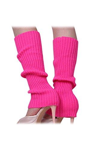 Calentadores de pierna - SODIAL(R)Calentadores de pierna sin pies tejidos de Color...