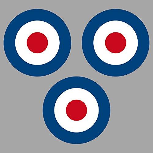Preisvergleich Produktbild Aufkleber Sticker 4cm Target Mod UK GB England Roller Vespa Symbol Zeichen Auto Motorrad (3)