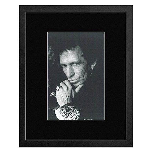 Stick It On Your Wall Keith Richards-Schwarz & Weiß Portrait von Jane braun 1996gerahmtes Mini Poster-33x 28cm