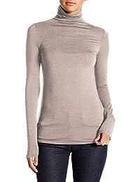 Jersey de Mujer con Manga Larga y Cuello Vuelto 47c0af865263