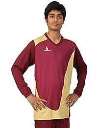 Triumph Men's Polyester Football Maroon Goalie V Neck Uniform