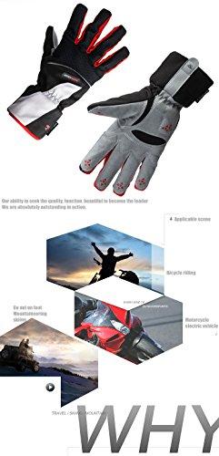 Gants moto Homme et Femme Pour Vélo, Scooter, Auto Moto, Combat, Camping,Randonné ou Protection des autres Activités En Plein Air noir-rouge