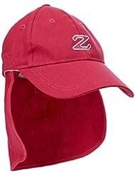 Zunblock - Gorra con protector de cuello para niño, color rosa, 54-58 cm
