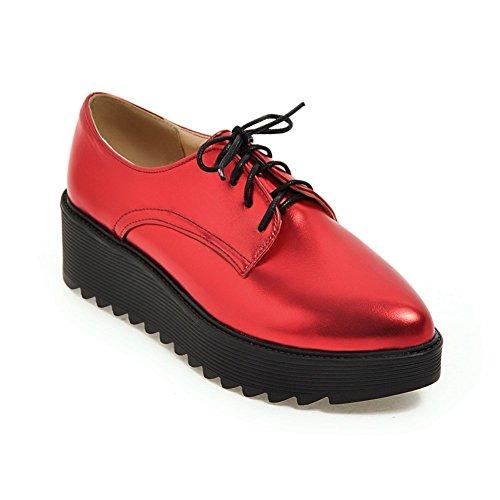 Spring Chaussures pour femmes/Tête ronde bracelet chaussures plate-forme/Étudiant cales chaussures d'Angleterre B