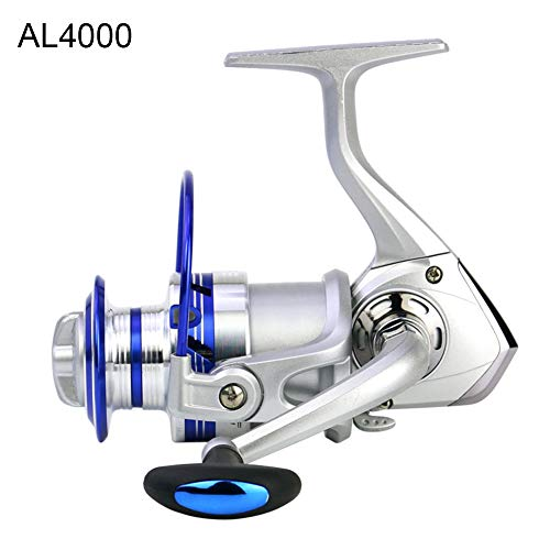 pengyu- AL4000 Angelrolle, für Rechts- und Linkshänder, auswechselbar, leichtgewichtiges Metall, ABS, Angelrolle, Angelzubehör