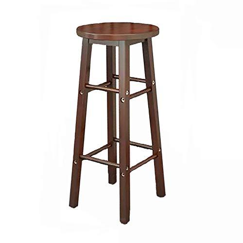 Dark Brown Counter (ASDUN Modern Industrieller Stil Barhocker Metallskelett Massivholz Counter Seating Cafe Pub Hocker Bistro Braun)