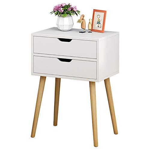Doppelspeichernachttisch Massivholztisch Sofa Im Wohnzimmer Regal Schlafzimmer 2 Schicht Schublade Schrank Weiß