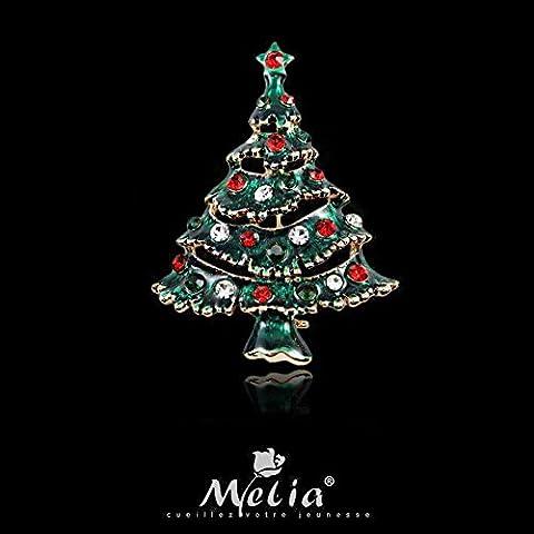 Regalo di Natale albero carina corpetto spilla
