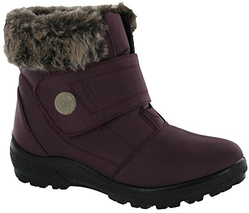Cushion Walk Fur Lined Boots Winter Warm Fur Ankle Touch Fasten Comfort Shoes