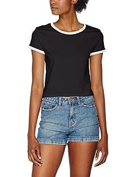 Urban Classic Ladies Cropped Ringer tee, Camiseta para Mujer