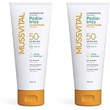 MUSSVITAL PACK SOLAR LOCION PEDIATRICA 50+ 2 x 300 ml