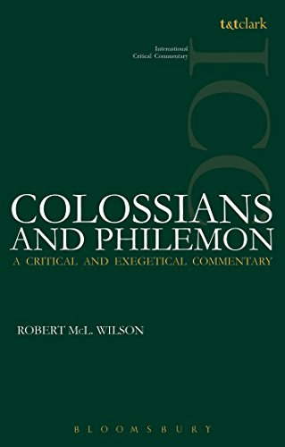 Colossians and Philemon (ICC) (International Critical Commentary)