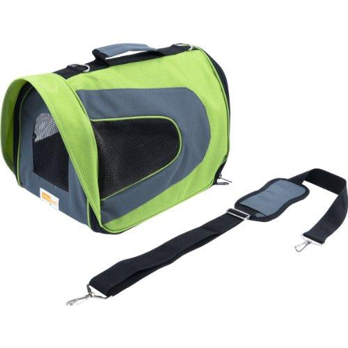 insapet Hundetransporttaschen Tragetasche HOLIDAY grün Transporttasche für Hunde Transportbox M ( 35 x 22 x 23cm )