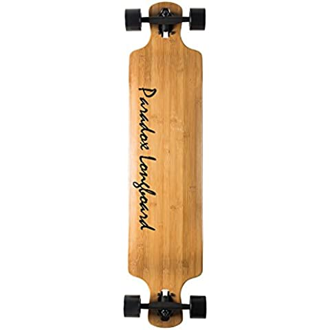 Paradox Bamboo Longboard Drop-Down Downhill Cruiser Freeride Monopatín Skateboard (107 cm)