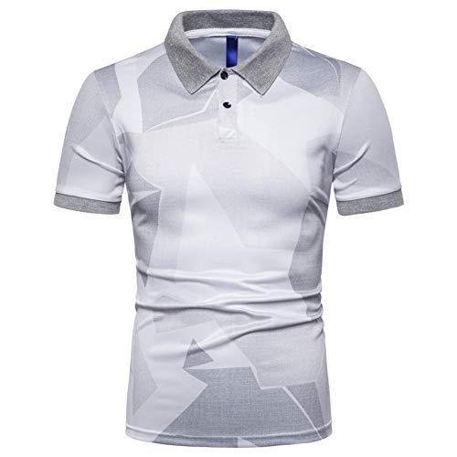 XJWDTX Herren Slim Fashion Kurzarm Revers Dünnes T-Shirt Polo Shirt