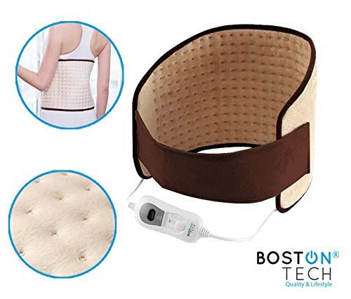 Boston Tech WE-116 Almohadilla Electrónica Lumbar de 29x69cm, superficie suave de microfibra, 3 niveles...