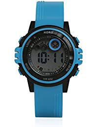Horo (Imported)Blue Kids Digital Sports Water Resistant Wrist watch 18 months Warranty High Quality Strap