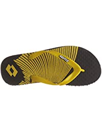 Lotto Men's BLACK/Yellow Hawaii House Slippers