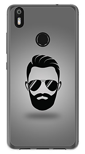 Tumundosmartphone Funda Gel TPU para BQ AQUARIS X/X Pro diseño Barba Dibujos