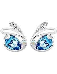NEVI Crystals From Swarovski Swan Animal Stylish Designer Studs For Girls and Women