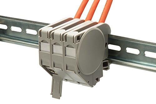 ASSMANN Hutschienen Adapter für 1 x Keystone Module, IP20, Inklusive Beschriftungsfeld, Staubschutz, Erdungsfeder, Seitenabdeckung, Grau (Abdeckung Staubschutz Switch)