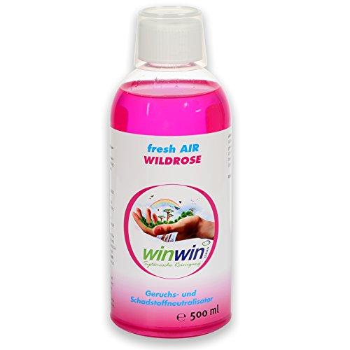 winwin clean Systemische Reinigung - Fresh AIR LUFTREINIGUNGS-Konzentrat 'WILDROSE' 500ML I AUCH BESTENS GEEIGNET FÜR DEN Einsatz IM proWIN AIR Bowl