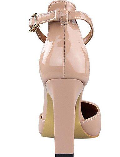 WSS 2016 Chaussures Femme-Décontracté-Noir / Jaune / Rose / Rouge / Argent / Poil de Chameau-Gros Talon-Talons-Talons-Polyuréthane pink-us8 / eu39 / uk6 / cn39