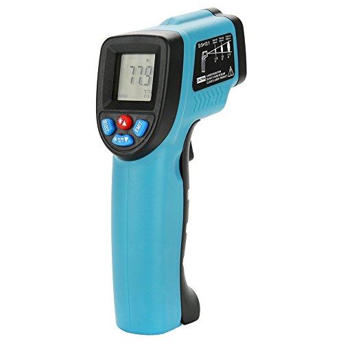 60 Sek. Thermometer (GLOGLOW Infrarot-Thermometer, berührungslos, digital, mit LCD-Display für die Lebensmittelindustrie (-50 °C bis 550 °C))
