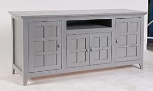 Meuble TV 150x45x70 Finition patine grise. Plaquage de Chêne