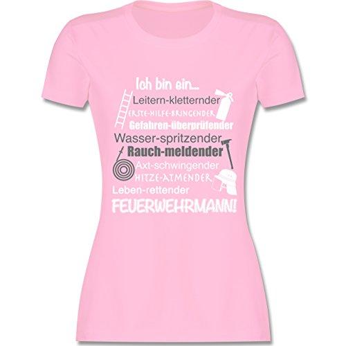 Feuerwehr - Ich bin ein ... Feuerwehrmann! - tailliertes Premium T-Shirt mit Rundhalsausschnitt für Damen Rosa