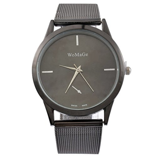 MJartoria Unisex Armbanduhr Quarz Uhr Milanaiseband Mode Design Schwarz für Studenten Studentinnen