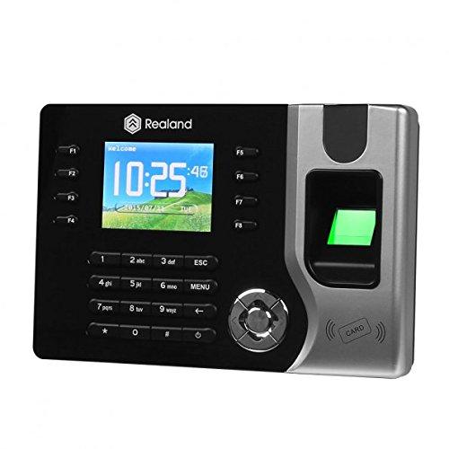 "Realand AC071 2.4"" biometrischer Fingerabdruck-Anwesenheits-Maschine, TFT, LCD Display, Schwarz"