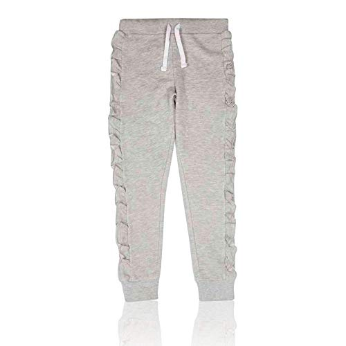 Ex Marks & Spencer T743110S M&S Cotton Rich Grey Marl Frill Girls...