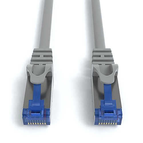 3m CAT.7 Netzwerkkabel (RJ45) Patchkabel Ethernet Lan in grau  10Gbit/s   600MHz   abwärtskompatibel zu CAT.5 / CAT.5e / CAT.6   von JAMEGA